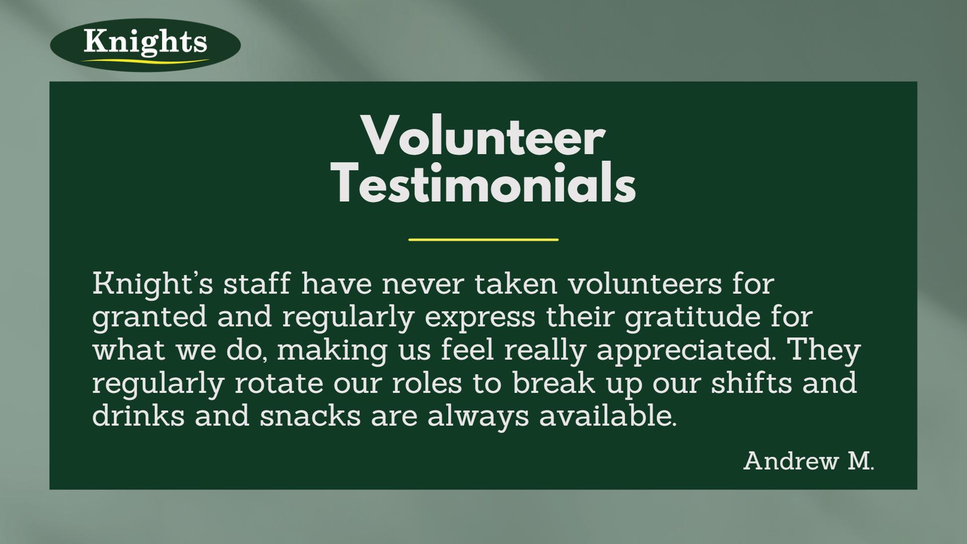 volunteer testimonial