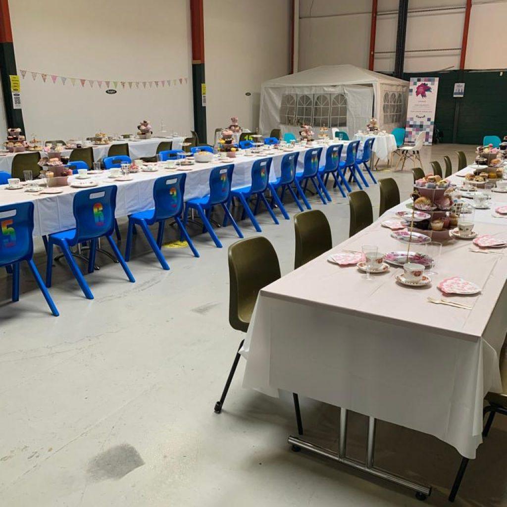 volunteer ceremony afternoon tables